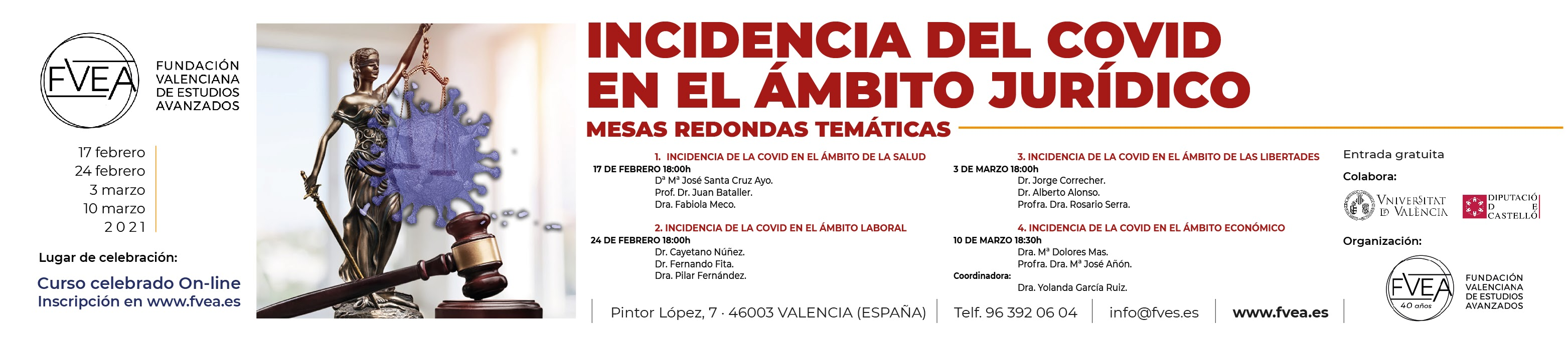FORMACIÓN: COVID EN EL ÁMBITO JURÍDICO