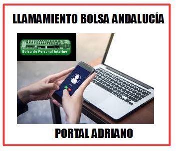 LLAMAMIENTO BOLSA DE ANDALUCÍA - PORTAL ADRIANO